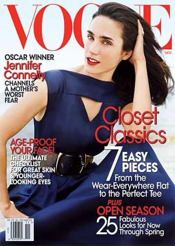 Jennifer Conelly en Vogue