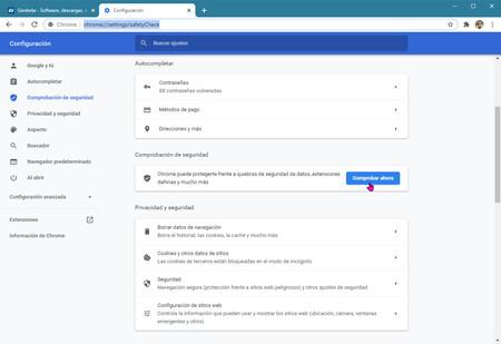 Chrome Comprobar Ahora