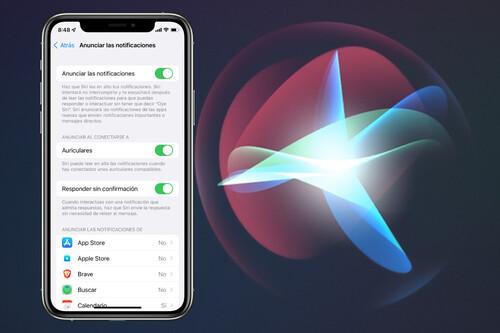 Cómo utilizar la función de anunciar notificaciones con Siri de iOS 15 en nuestro iPhone o iPad