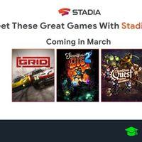 Juegos gratis de Stadia en marzo 2020 para Stadia Pro