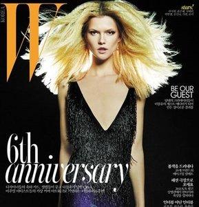 """Kasia Struss en la portada koreana """"W"""", ¿vuelven las planchas rizadas?"""