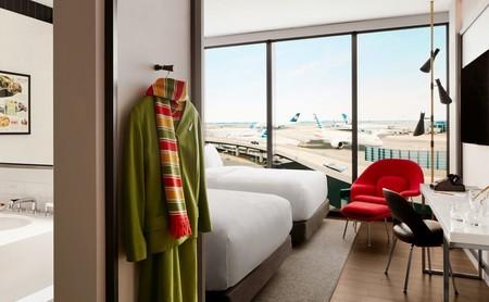 Una vieja terminal del aeropuerto JFK se reinventa como un hotel de aire retro