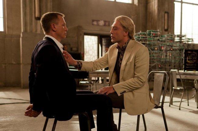 Daniel Craig y Javier Bardem en Skyfall