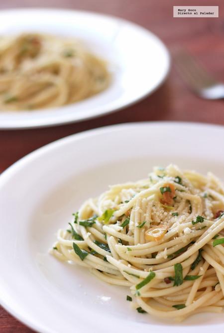 Espagueti Aglio