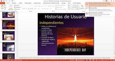 PowerPoint 2013, integración con Ribbon