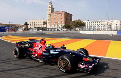 Sebastian Vettel, el más rápido en Valencia