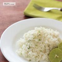 Arroz con limón y cilantro. Receta