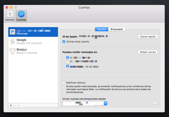 Configurar Imessage Mac