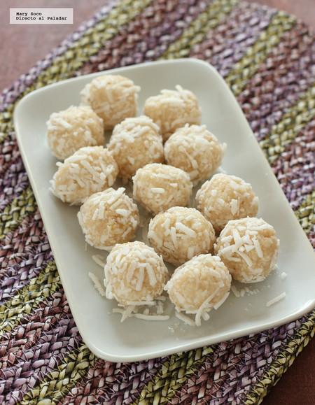 Bocadillos dulces de coco. Receta