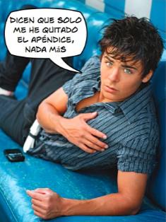 Zac Efron, de High School Musical, está hospitalizado