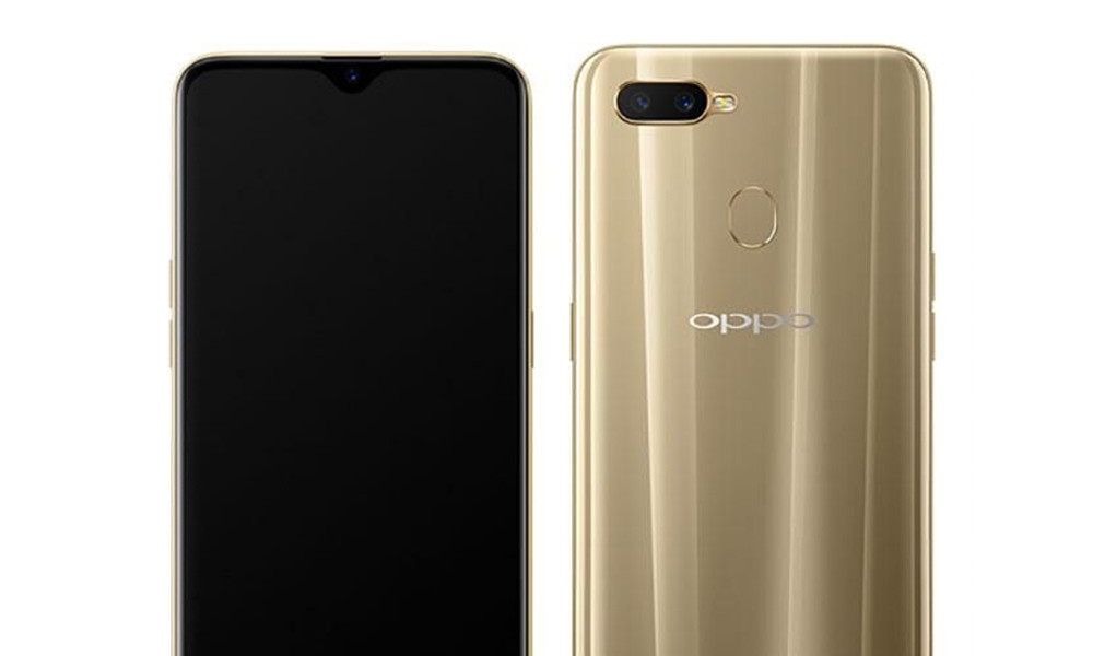 OPPO A7 is filtered out by fully revealing its 4 GB of RAM and a screen with a notch in the form of a drop of water