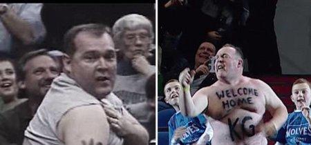 La historia del hombre cuyos vídeos de baile - hace 11 años y ahora con sus hijos - en el estadio está reventando internet
