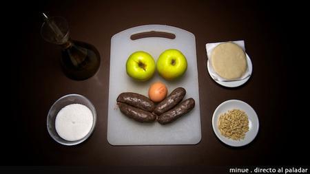 Empanadillas de morcilla y manzana - ingredientes