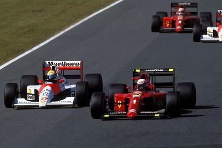 Senna Prost Suzuka 1990