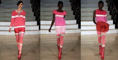House of Holland Otoño-Invierno 2009/2010 en la Semana de la Moda de Londres, de rosa