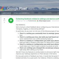 Google quiere tu ayuda para mejorar las opciones de configuración de los Pixel