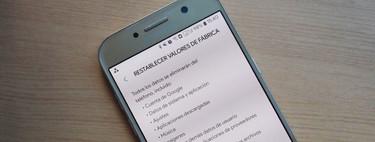 Cómo restaurar de fábrica un móvil Android