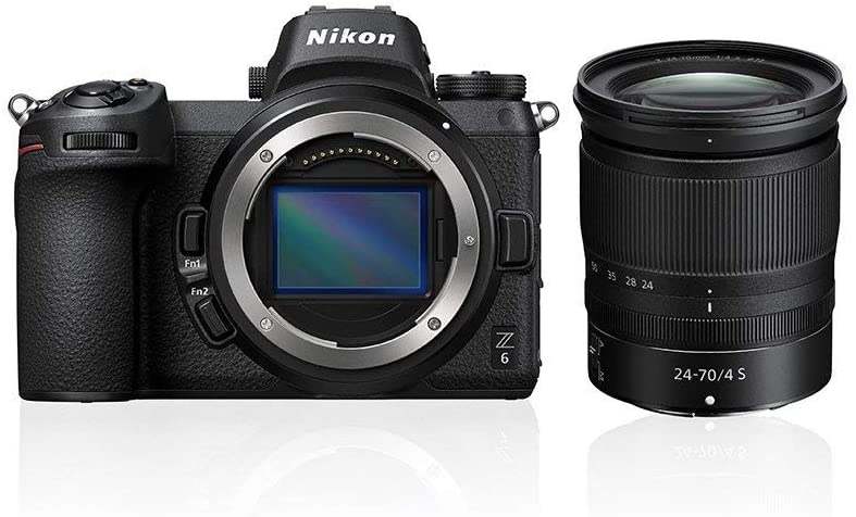 Nikon Z6 - 24 MP Mirrorless Camera (ISO 100-51200, Type Z Mount, 12 fps, Optical VR Stabilization, Sport Mode) - Kit with 24-70MM F4 SD2 Lens - Nikonistas Version