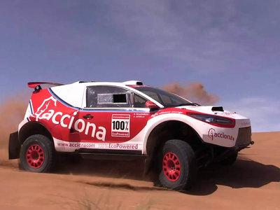 El Acciona 100 % EcoPowered es el primer coche eléctrico de la historia en finalizar los 9.000 km del  Dakar