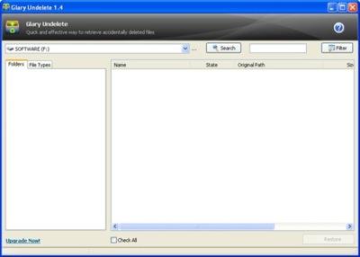Glary Undelete, para recuperar archivos borrados
