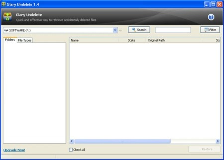 glary undelete pour windows 7