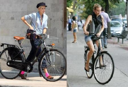 Look ciclista: ¿Agyness Deyn o Diane Kruger?