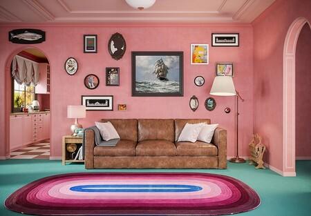 Así sería la casa de Los Simpsons, el bar de Moe y la central nuclear si Wes Anderson redecorara todo Springfield