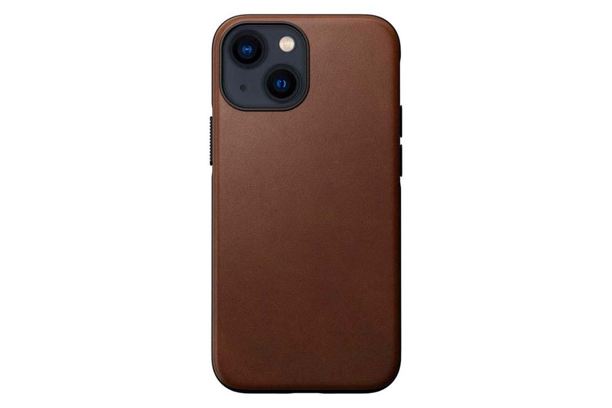 Nomad Modern Funda MagSafe iPhone 13 mini piel marrón rústico