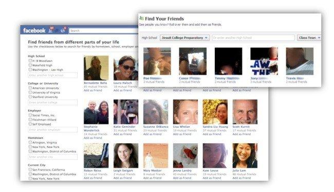 Nuevo explorador de amigos de Facebook