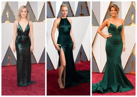 Looks En Verde Oscar 2016