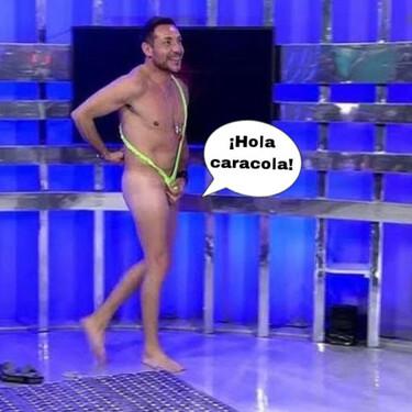 Antonio David Flores se desnuda en su primer día en 'Quiero dinero' y se le escapa un testículo en directo