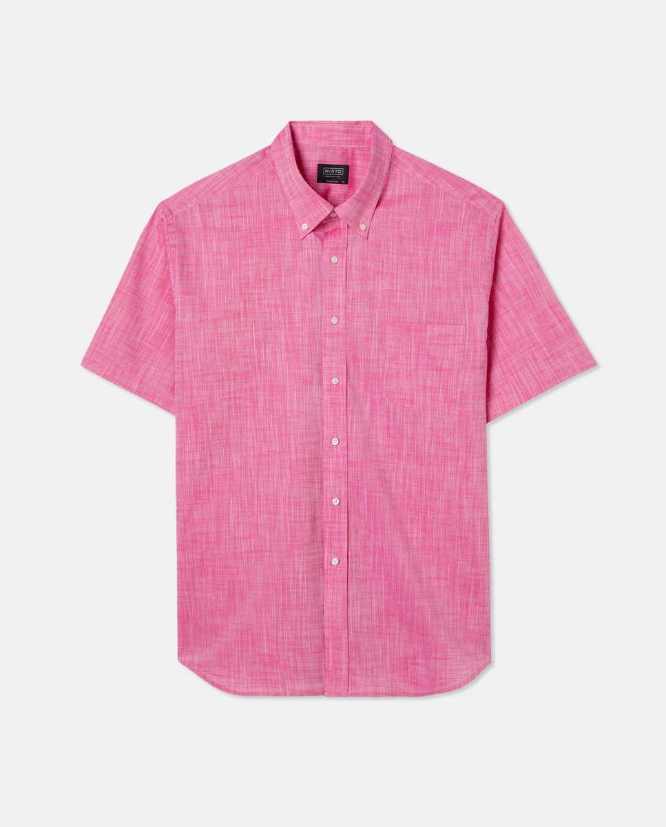 Camisa de hombre classic lisa coral tallas grandes