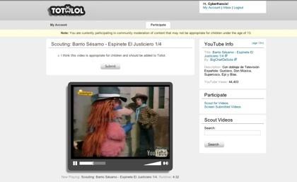 Totlol, comunidad para el filtrado de los mejores videos para los menores