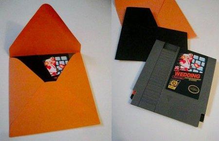 Ponle imaginación: geniales invitaciones de boda de Mario Bros