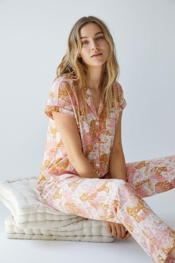 Pijama largo elefantes algodón