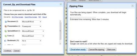 Google Docs permite exportar todos tus documentos en formato .zip