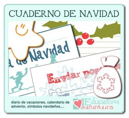 El cuaderno de Navidad de educativos Meninheira, nos facilitará la realización de múltiples actividades en casa durante las vacaciones