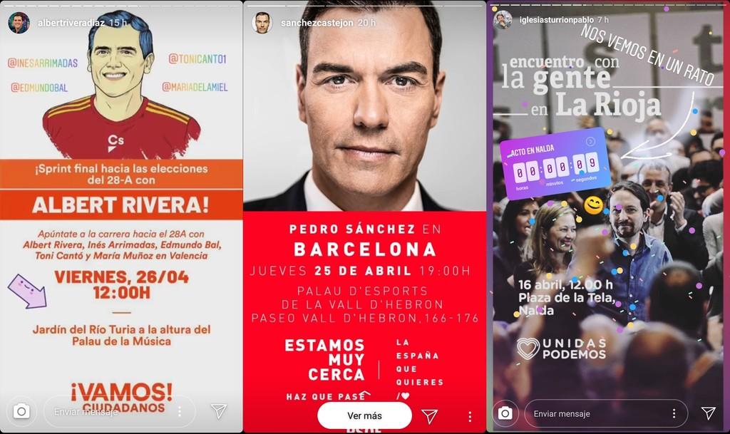 Las elecciones se ganan en las 'stories' de Instagram: así las han utilizado los políticos para hacer campaña y acercarse a sus votantes