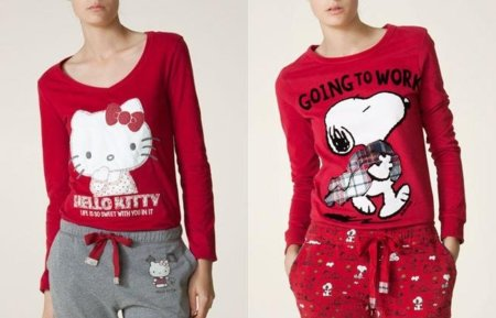 oysho hello kitty snoopy