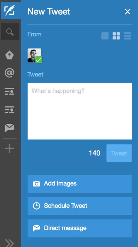 Tweetdeck Nuevo Tuit