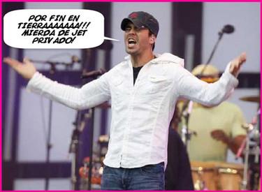 Enrique Iglesias aterriza de emergencia con su jet privado