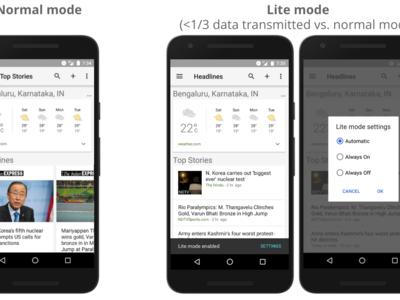Noticias y Clima de Google 2.8 añade un modo ligero y se optimiza para conexiones lentas