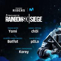 Movistar Riders presenta su equipo de Rainbow Six para competir en la ESL Masters