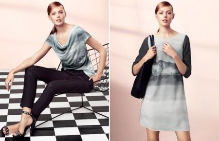 catalogo H&M elegancia 2013 vestido paisaje