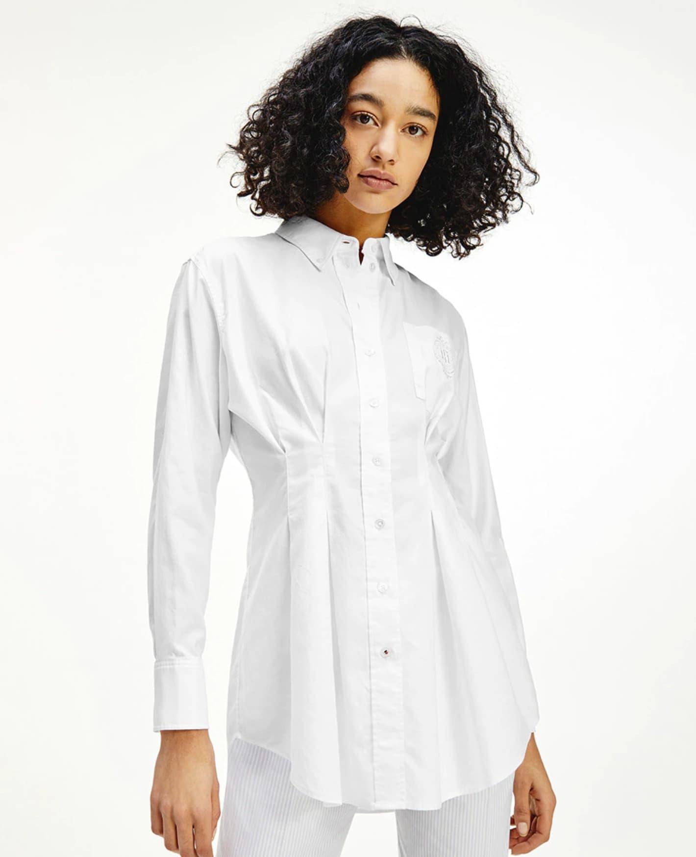 Camisa de mujer de algodón con manga larga