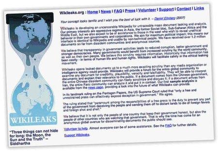 """El País """"criba"""" el capítulo español de WikiLeaks, cuya web ha sido atacada antes de la """"gran filtración"""""""