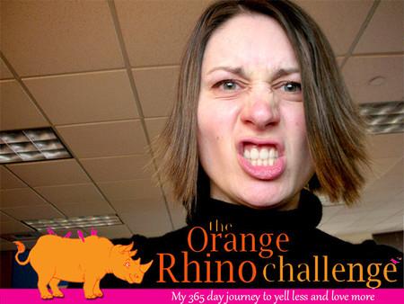 El desafío del rinoceronte naranja: únete a él y deja de gritar a tus hijos