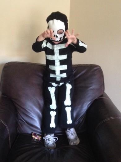 Disfraz Halloween Facil Barato Esqueleto 2