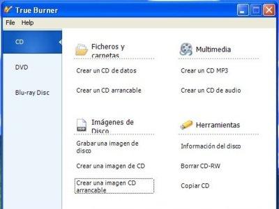 True Burner, sencillo y liviano software de grabación