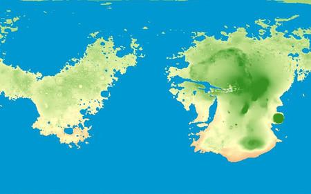 ¿Cómo sería Marte si los océanos cubrieran su superficie? Este mapa lo explora